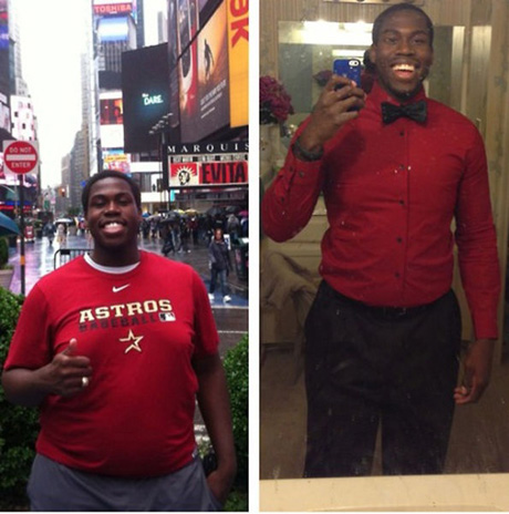 before-after-weight-loss-red-shirt